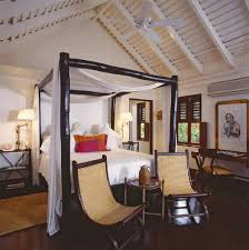 Bamboo Canopy Bed - Cottage - bedroom