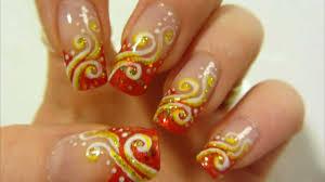 Summer Heatwave Swirly Design in Orange, Yellow, Gold and White ...