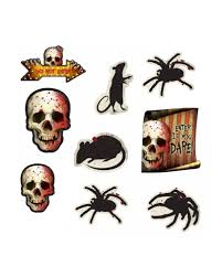 Spooky Halloween Dekoration 12 Teilig Partyzubehör Horror Shopcom