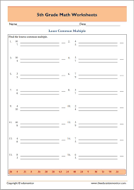 Least common multiple worksheets 5th grade pdf … … | Pinteres…