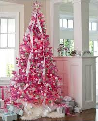 White Christmas Tree With Pink Decorations for full resolution by using  download link we provide here [ Download Image Original Resolution ]