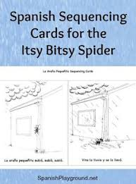 spanish sequencing cards for the itsy bitsy spider are a fun activity for age learners