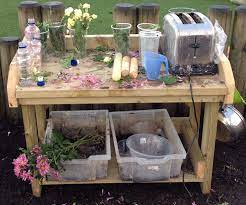 Perfume Potion Making In The Mud Kitchen Mud Kitchen Outdoor Kids Outdoor Classroom