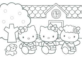 Hello Kitty Coloring Pages Hello Kitty Coloring Pages Free Hello