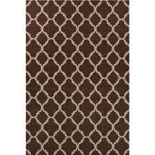 trellis brown reversible 5 ft x 7 ft indoor outdoor area rug