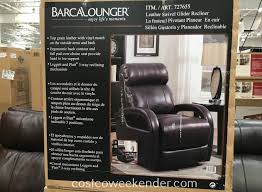 costco 727655 barcalounger leather swivel glider recliner chair nothing beats a comfortable chair
