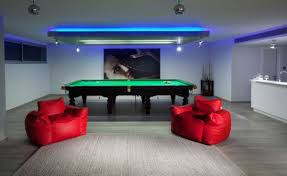 gameroom lighting. view in gallery plush seating and bright neon lights are ideal fits for the game gameroom lighting l