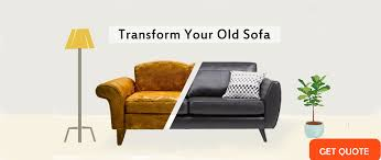 image of a before after 3 seater sofa repair by sofa clinic with get e on
