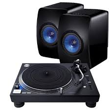 kef ls50 speakers. technics sl-1210gr turntable with kef ls50 wireless speakers kef ls50 r