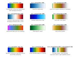 What Do The Colors Denote In A Bathymetric Chart M_map Users Guide