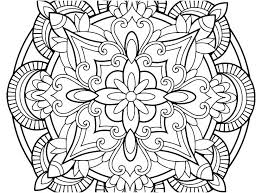 Mandala Flower Coloring Pages Difficult Lotus Easy Print Free