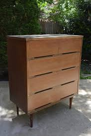 Mid-Century Modern dresser makeover - BEFORE - $15 dresser from the thrift  store |
