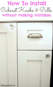 Full Image for Kitchen Door Handle And Knobs How To Install Cabinet Knobs  With A Template ...