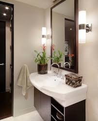 wall sconce lighting ideas. Bathroom Sconce Lighting Ideas Designs With White Sink And Small Wall Mirror