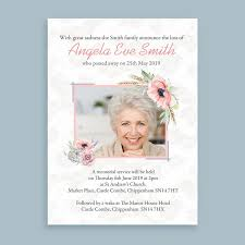 Memorial Announcement Cards Country Floral Funeral Memorial Announcement Cards From 1 00