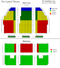 Capitol Theater Seating Chart Skillful Revolution Live Seating Chart 2019