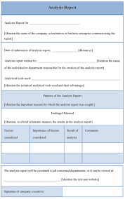 High Quality Blank Data Analysis Report Template And Form For Your ...