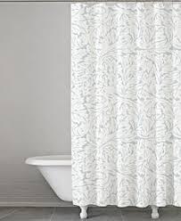 white shower curtains. Kassatex Foglia Cotton 72\ White Shower Curtains