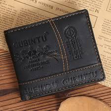 mens leather bifold wallet credit id card receipt holder coin money purse gift 2 2 of 5