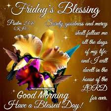 Good Morning Friday Quotes Extraordinary Have A Blessed Friday Friday's Blessing Good Morning Have A