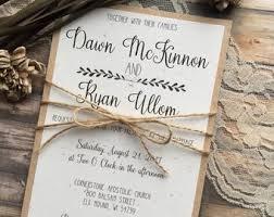 Vintage Wedding Invitation Rustic Wedding Invitation Etsy