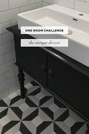 an antique dresser into a vanity