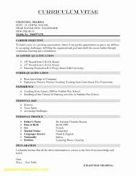 Simple Resume Design New Easy Resume Template Simple Job Examples