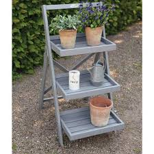 fallen fruits pine stepped plant stand