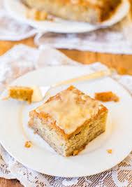 Browned Butter Glaze Soaked Greek Yogurt Banana Cake