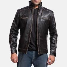 brownson leather biker jacket