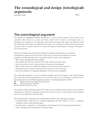 the cosmological and design teleological arguments