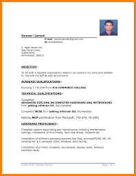 6 Simple Resume Format In Word Writing A Memo