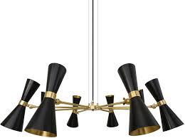 cairo 8 arm retro modern chandelier black or white