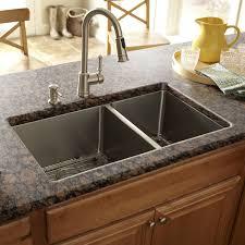 Black White Floating Undermount Double Trough Sink Aside Sinks