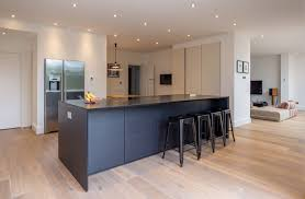 spot lighting for kitchens. Kitchen Spot Lighting. Modern Black Island | Breakfast Bar Integrated Fridge Freezer Built In Lighting For Kitchens N