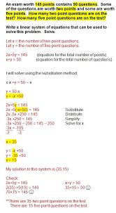 systems of equations word problems