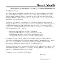 Admissions Counselor Cover Letter Example