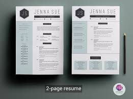 2 Page Resume Beauteous 60page Resume Template Resume Templates Creative Market