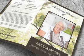 Green Leaves Memorial Service Template, Nature Funeral Service ...
