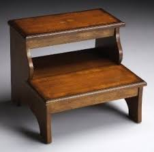 Stratford Hills Inlaid Step Stool - Two Step Bed Step - Accent Furniture