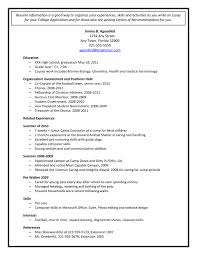 Resume Template For High School Student Applying To College Resume