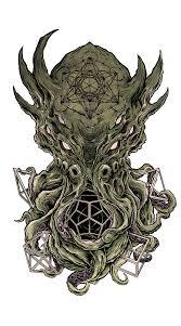 Green Outstanding Cthulhu Tattoo Golfiancom