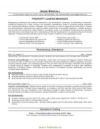 Property Management Specialist Sample Resume Interesting Sample Resume For Property Consultant Leasing Specialist 5