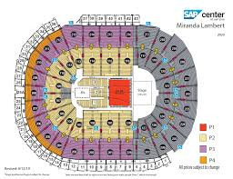 Miranda Lambert Seating Chart Miranda Lambert Sap Center