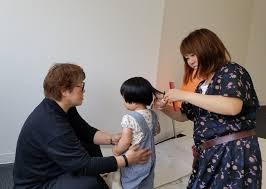自宅でカット美容師が赤ちゃん筆を作る髪の毛の切り方教えます