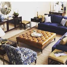 navy leather ottoman. Perfect Navy Navy Sectional Leather Ottoman And Leather Ottoman A
