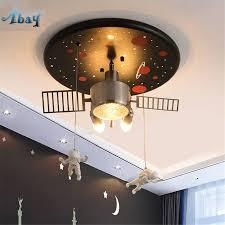 Art Deco Ceiling Light Us 147 0 30 Off Art Deco Satellite Astronaut Led Ceiling Light For Childrens Room Kindergarten Creative Ceiling Lamp Study Living Room Lights In