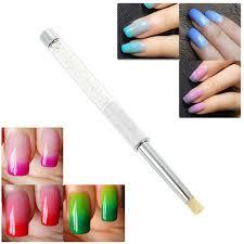 BQAN White Rhinestone Acrylic Handle Nail Art Shading Brush Pen ...