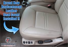 2000 2001 ford excursion limited leather seat cover driver bottom tan