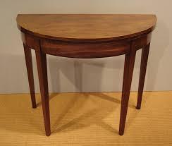 georgian demi line tea table antique half round table